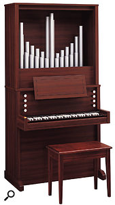 Another beautiful (if hardly cheap) emulation of a pipe organ, 1999's C280P came complete with resonator pipes on top of the digital organ.