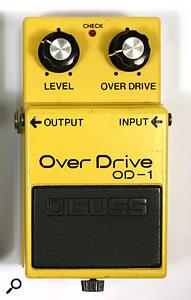 One of the first of Boss's guitar-effects products to come in pedal form, 1977's OD1 distortion.