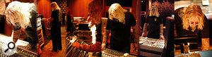 Roy Thomas Baker at the Village Studios, LA, mixing some Darkness live performances.