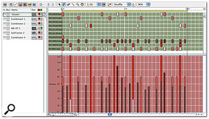 Here, the Pencil tool has been used to add some velocity variation to the hi-hat part.