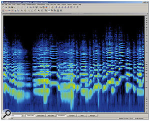 Samplitude's Spectrogram display in action.