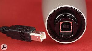The Samson C01U requires a common USB-B type plug.