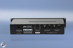 The rear panel plays host to several inputs and outputs, including the side-chain effects loop.