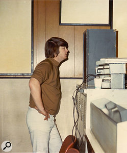 Brian listening at one of Western's monitors during a SMiLE tracking session.