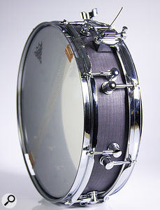 The Levi Drums Recording Master piccolo snare drum used on this session.
