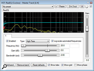 The processing chain for final mixdown was fairly minimal: 20Hz high-pass filtering from Cockos ReaEQ; de-essing from ToneBooster's TB_DeEsser; and the lightest of limiting from Sonalksis MaxLimit to catch occasional overbearing signal peaks.