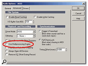 If you're using an M Box interface with Sonar, you'll probably encounter problems unless you turn off multi-processing.