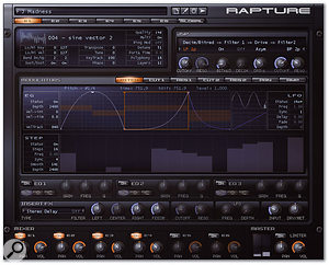 Rapture, designed by Rene Ceballos of RGC Audio, is Cakewalk's latest entry into the cross-platform virtual instrument field.