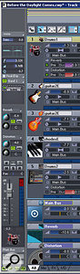 The Track view's Inspector, which provides a Console-style mixer channel any time you need it.