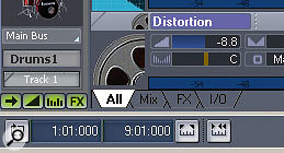In the Track view, customisation of what you see is available partly through these four tabs (All, Mix, FX, I/O), which provide access to four preset views.