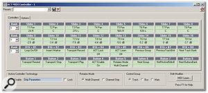 The ACT MIDI Controller plug-in.