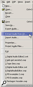 Sonar's File menu has been modified to resemble that of Sony's Sound Forge.