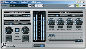 The Channel Tools module provides a variety of 'utility' processes for both stereo and Mid/Side signals.