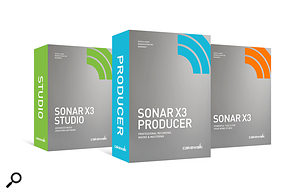 Cakewalk's new Sonar X3 family of products