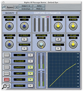 Only the Pro Tools versions of Oxford Dynamics support external side-chain signals, but all the versions allow you to EQ the side-chain signal.