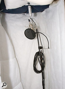 Ross had already pressed an old cupboard into service to provide a nice, dead-sounding vocal booth.