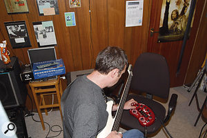 Although the Line 6 Pod is associated more with guitar sounds, Paul showed Peter how you can set up the unit to create perfectly good bass sounds as well.