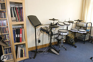 Darren was not getting the sound he wanted from his acoustic kit, and although he had a Roland V-Drum kit (TD8 with extra 12-inch snare pad), he felt that also being able to offer 'real' acoustic drum sounds was important.