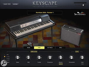 Wurlitzer's popular 200A electric piano — this patch includes a  vintage modelled amp.