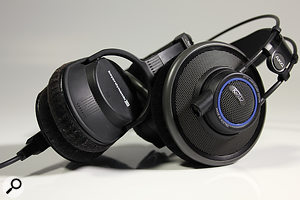 Closed-back headphones, like those on the left, offer reduced spill at the expense of some clarity. The obverse is true for open-back designs, like those on the right.