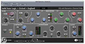 The most commonly used of Duende's two plug-ins is likely to be Channel Strip, which is based around the characteristics of the EQ and Dynamics sections of SSL's XL9000K console.