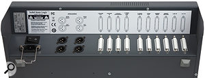 Most of the I/O is presented on D‑Sub connectors, which helps to keep the X‑Desk small and portable, while providing an amount of connectivity typical of amuch bigger console.