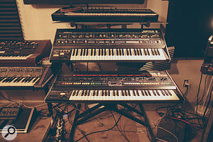 Stein's Roland Jupiter 8 has been retrofitted with MIDI and picks out the lead part in the Stranger Things theme. The   Jupiter 6 was equipped with MIDI on its release.