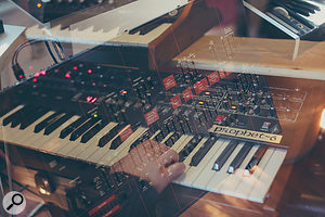 The Sequential Prophet 6 was used heavily in the score. Having patch memories made recalls muchmore manageable for the pair, meanwhile the ARP Avatar covered bass duties on the 'Kids' theme.