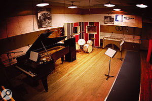 The 'Snake Pit', aka Motown Studio A, is almost exactly as it was during Motown's heyday. The XLR leads hanging from the ceiling were put in place to avoid having cables trailing over the floor during a crowded session — and given the size of the studio, all of the sessions were crowded.