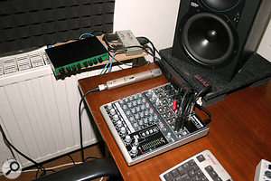 This Mackie 802 VLZ3 mixer is ideal for basic recording setups such as James', providing good quality mic preamps and all the routing and monitoring facilities he's likely to need.