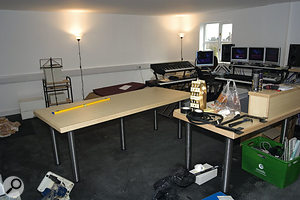 Hilgrove's studio space before the team started work...