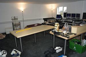 Hilgrove's studio space before the team started work...