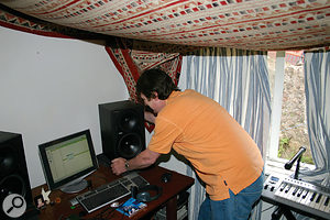 Paul White sets to work in the untreated studio, starting by isolating the speakers from the desk.