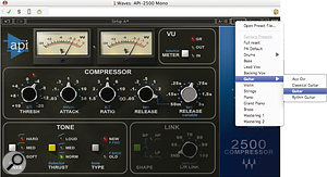 Plug‑in presets can be a great place to start... but if the signal doesn't rise above a compressor's threshold, it won't be doing any compression!