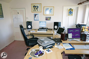 Paul's control room before the Studio SOS visit was largely untreated. Although it sounded better than it had any right to, there were still issues to address.