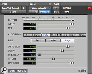 For his mix of 'I Care', DJ Swivel created an old‑school gated reverb using Avid's D‑Verb and Waves' SSL E‑Channel plug‑ins.