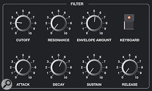 Figure 11: Using one of the Prophet 10's filters to create a far more accurate percussion sound.