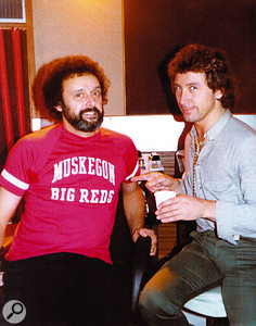 Bill Szymczyk with Kenney Jones of the Small Faces and the Who — Szymczyk produced the latter's 1981 album Face Dances.