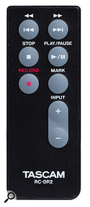 The remote control is a handy addition, and even makes it possible to control front‑of‑house recording from the stage!
