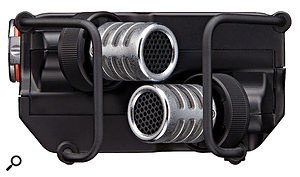 Keeping it simple: the recorder's onboard mics are fixed in an X-Y position.