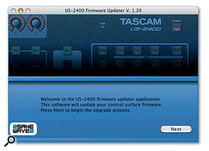 Firmware updates for the US2400 are supplied in the form of stand-alone applications that are impressively easy to use.
