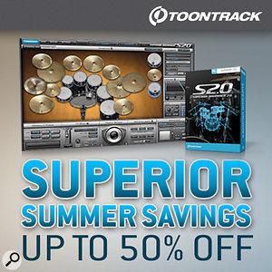 Toontrack Superior Drummer Summer savings