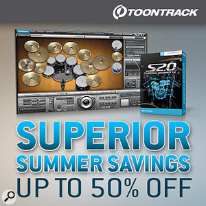 Toontrack Superior Drummer Summer savings