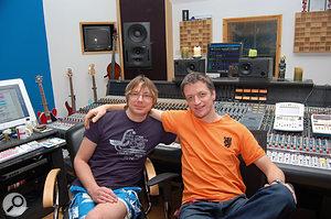 Martian engineers: Mark Hawley (left) and Marcel van Limbeek.