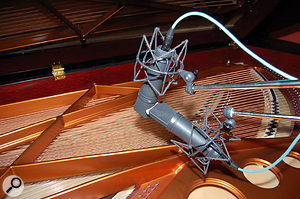 For her forthcoming album, Marcel van Limbeek has recorded Tori Amos's Bosendorfer piano using a pair of Neumann U87s in an M&S configuration.
