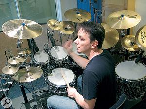 Porcupine Tree drummer Gavin Harrison records in his own purpose‑designed home studio.