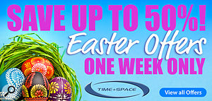 Time Space Easter savings