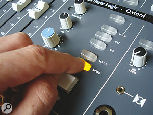 The simple act of switching your monitoring to mono can reveal all sorts of hidden phase conflicts in astereo mix.