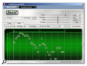 The Editor window looks most Melodyne-like: the blobs each represent a note, and you're free to move them up or down in pitch, change their orientation in the phrase, or chop them out entirely.