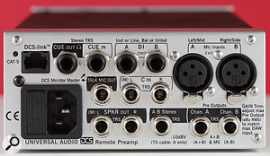 Mic inputs come via two XLRs and there are two quarter-inch jack sockets to provide unbalanced instrument and/or balanced line inputs.